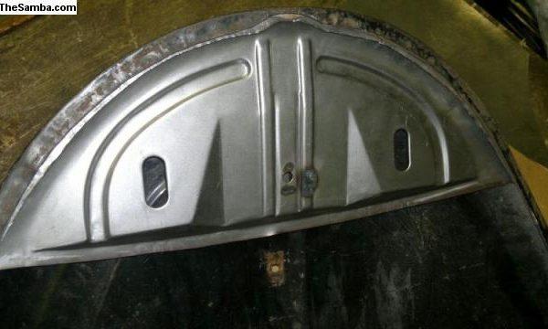 6031565 Pre 49 front hood lock plate